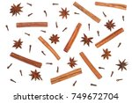 composition of star anise ...   Shutterstock . vector #749672704