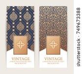 vintage background  royal...   Shutterstock .eps vector #749673388