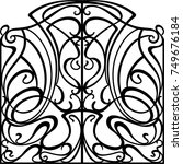 wrought iron gate  door  fence | Shutterstock .eps vector #749676184