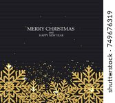 new year and merry christmas... | Shutterstock .eps vector #749676319