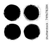 black friday set. blots ... | Shutterstock .eps vector #749678284