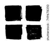 black friday set. blots ... | Shutterstock .eps vector #749678350