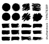 black friday set. blots ... | Shutterstock .eps vector #749678389