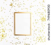 photo frame mock up with space... | Shutterstock . vector #749680930