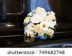 beautiful bridal bouquet of... | Shutterstock . vector #749682748