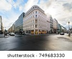 crossroads shopping streets in... | Shutterstock . vector #749683330