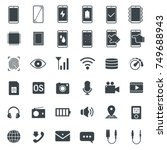 mobile phone specs icons.... | Shutterstock .eps vector #749688943