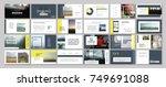 original presentation templates.... | Shutterstock .eps vector #749691088