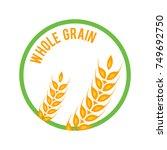whole grain logo template  icon ... | Shutterstock . vector #749692750