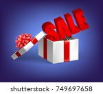 gift with sale | Shutterstock .eps vector #749697658