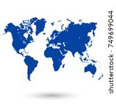 world map vector | Shutterstock .eps vector #749699044