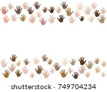 frame of hands with skin color... | Shutterstock .eps vector #749704234