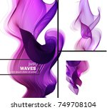 the abstract wave. abstract... | Shutterstock .eps vector #749708104
