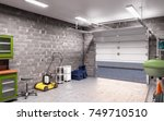 garage interior 3d illustration | Shutterstock . vector #749710510