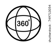 angle 360 degree icon. outline...