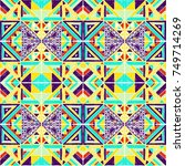 seamless geometric african... | Shutterstock .eps vector #749714269