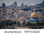 the old city of jerusalem where ... | Shutterstock . vector #749714320
