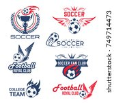 soccer club or football... | Shutterstock .eps vector #749714473