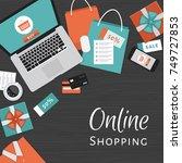 online shopping concept. online ... | Shutterstock .eps vector #749727853