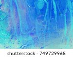 creative abstract hand painted... | Shutterstock . vector #749729968