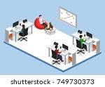 isometric 3d vector... | Shutterstock .eps vector #749730373