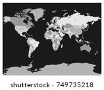 world map in four shades of... | Shutterstock .eps vector #749735218