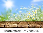 empty table background | Shutterstock . vector #749736016