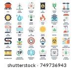 vector set of power and energy... | Shutterstock .eps vector #749736943