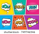 retro comic speech bubbles set... | Shutterstock .eps vector #749746546