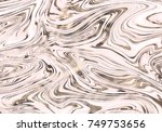 vector marble rose gold... | Shutterstock .eps vector #749753656