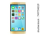gold smartphone  mobile phone...