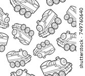 cute train seamless pattern... | Shutterstock .eps vector #749760640