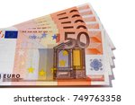 euro 50 currency notes | Shutterstock . vector #749763358