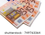 euro 50 currency notes | Shutterstock . vector #749763364