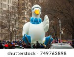 Small photo of NEW YORK CITY - NOVEMBER 27 2014: the 88th annual Macy's Thanksgiving Day parade stretched from Manhattan's Upper West Side to Herald Square, viewed by 350,000 spectators.