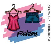 female fashion clothes icon | Shutterstock .eps vector #749767660