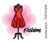 female fashion dress icon | Shutterstock .eps vector #749767696