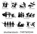 social problems and critical... | Shutterstock . vector #749769244