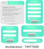 web designing frame  forms... | Shutterstock .eps vector #74977000