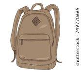 vector single brown cartoon...   Shutterstock .eps vector #749770669