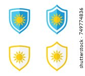 shield and sun uv protection ...   Shutterstock .eps vector #749774836