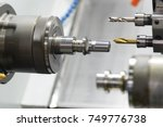 cnc lathe machine or turning... | Shutterstock . vector #749776738