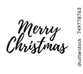 merry christmas card with... | Shutterstock .eps vector #749778763