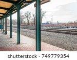 empty above ground outdoor... | Shutterstock . vector #749779354