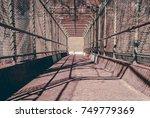 steel gate walkway. walkway... | Shutterstock . vector #749779369