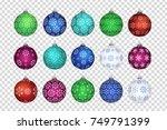 vector set of realistic... | Shutterstock .eps vector #749791399