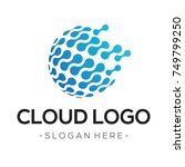 cloud tech logo vector | Shutterstock .eps vector #749799250