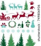 christmas set   Shutterstock .eps vector #749806936