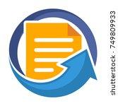 icon logo for business... | Shutterstock .eps vector #749809933