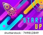 vibrant vector start up banner ....